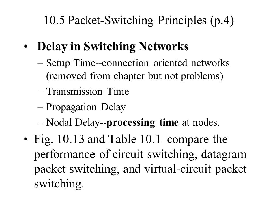 10.5 Packet-Switching Principles (p.4)