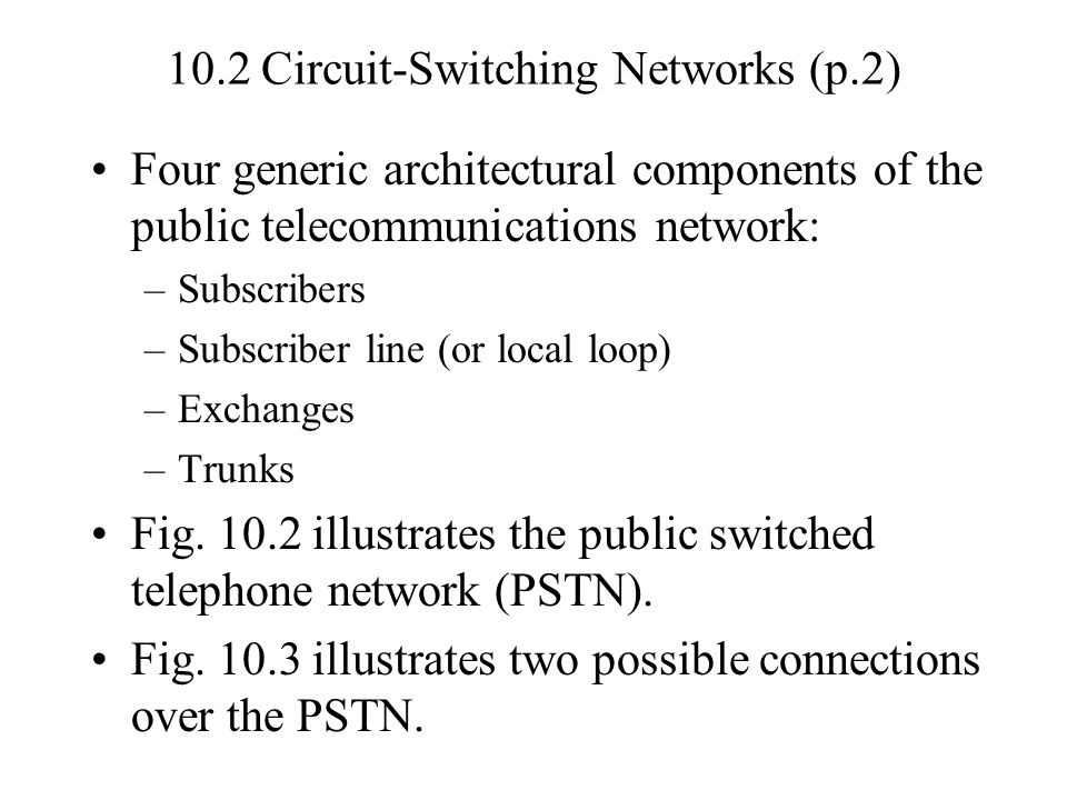 10.2 Circuit-Switching Networks (p.2)