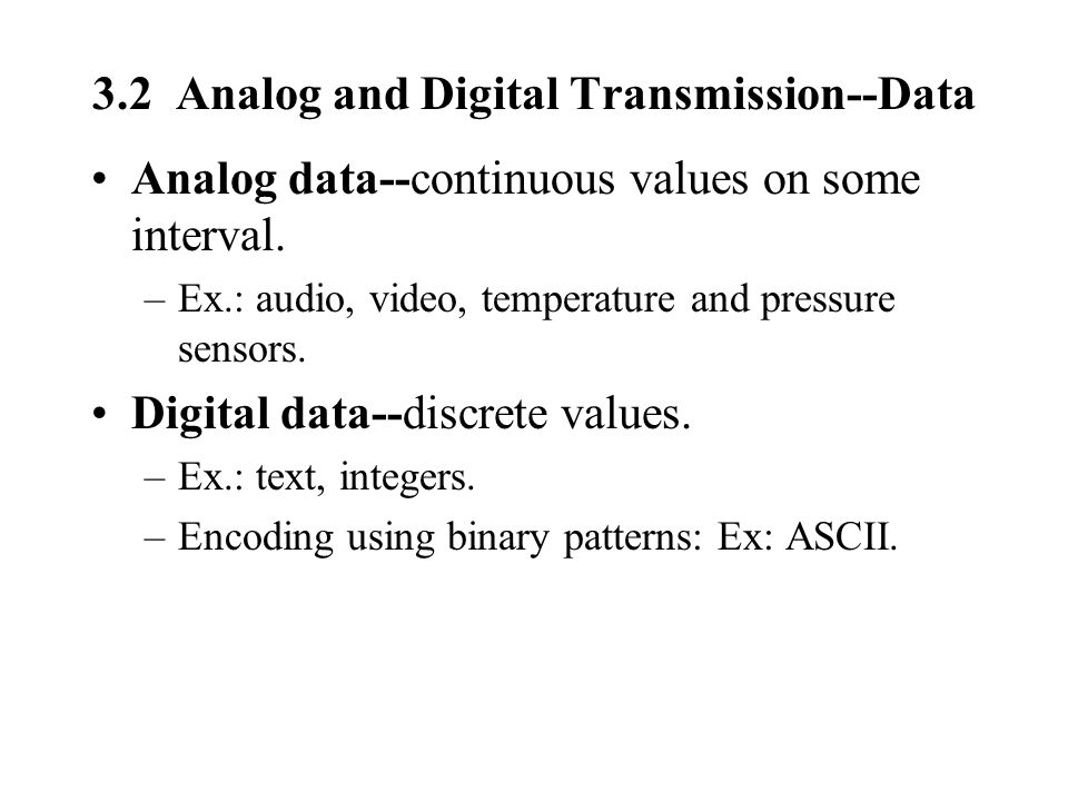 3.2 Analog and Digital Transmission--Data