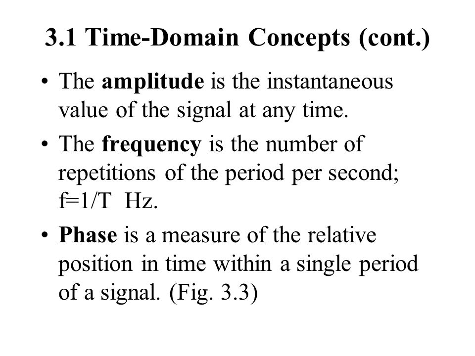 3.1 Time-Domain Concepts (cont.)