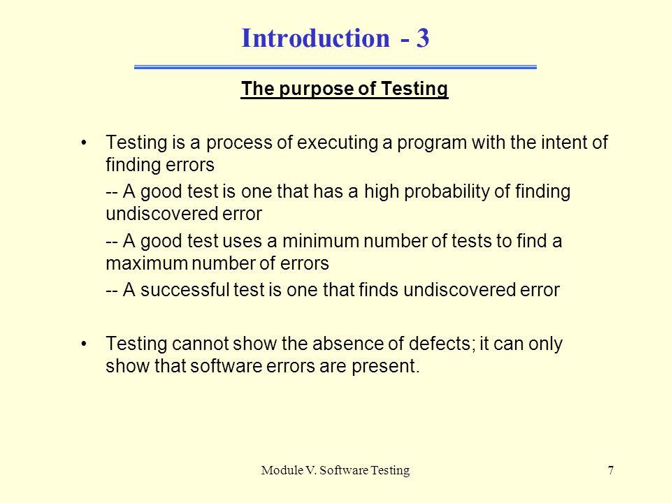 purpose of testing in software testing pdf