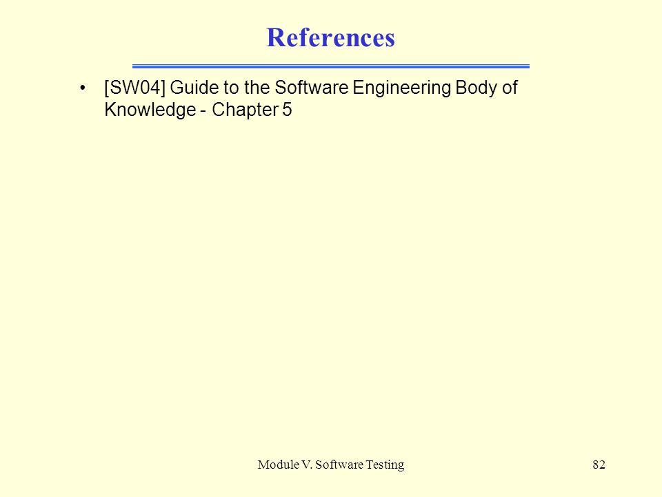 Module V. Software Testing