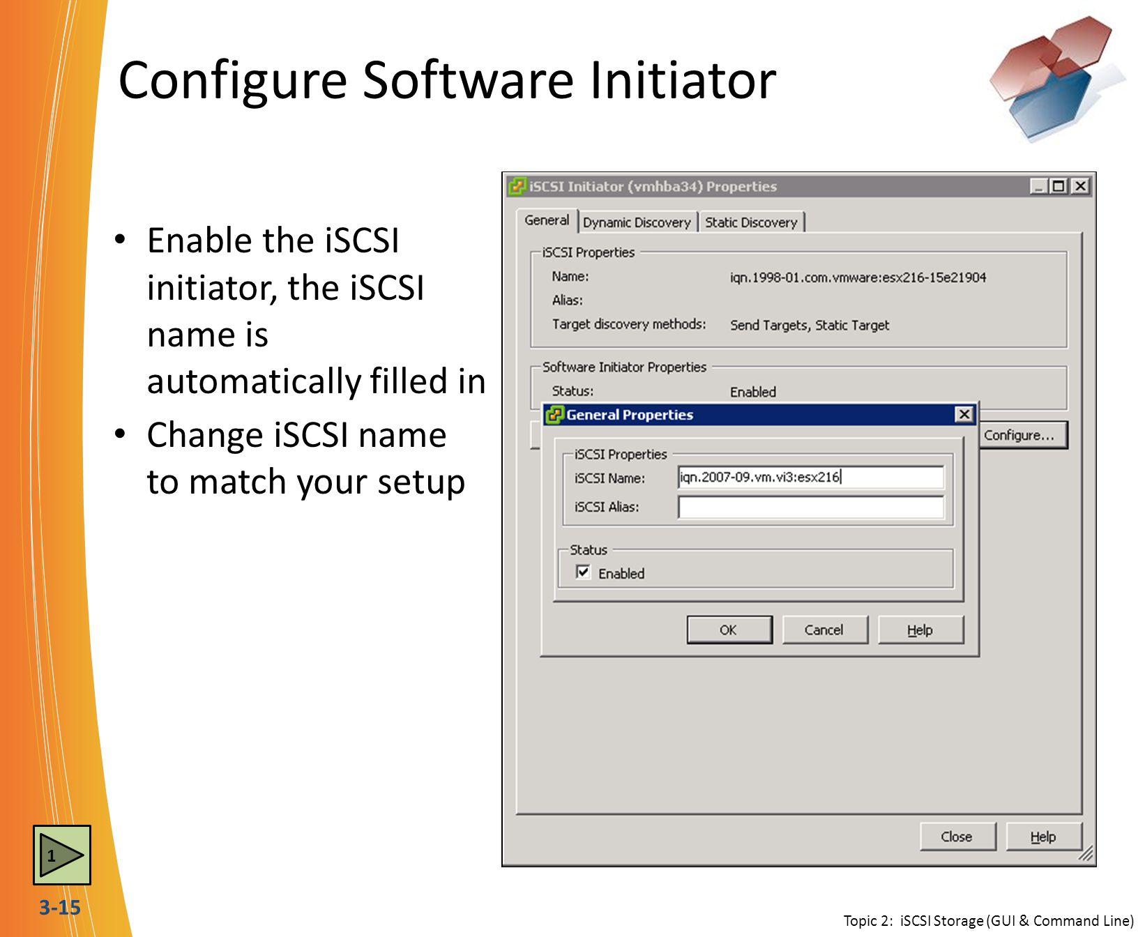 Configure Software Initiator