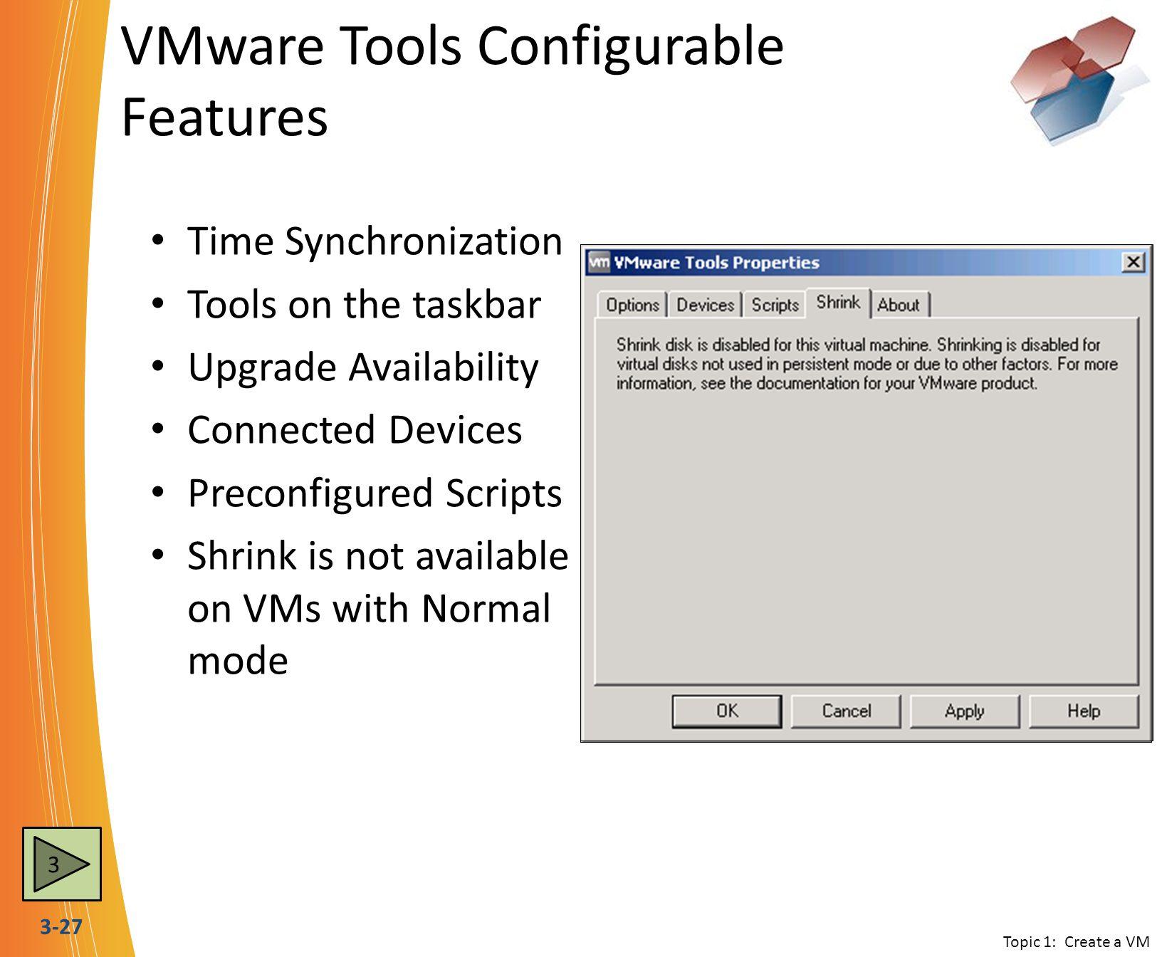 VMware Tools Configurable Features