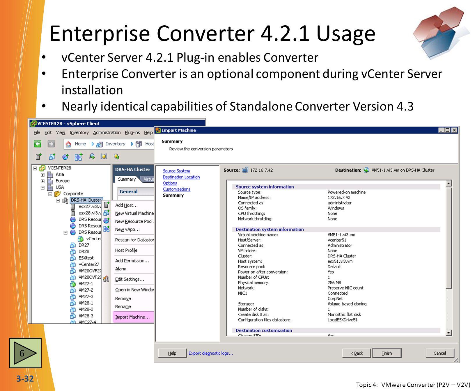 Enterprise Converter 4.2.1 Usage