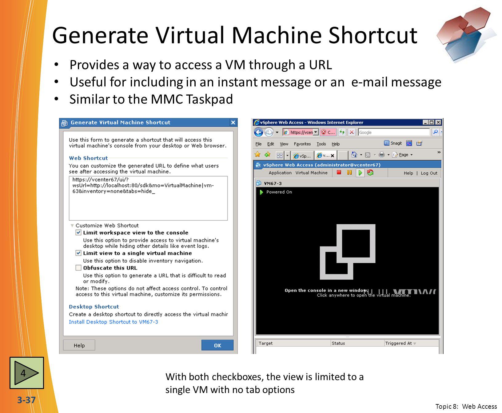 Generate Virtual Machine Shortcut