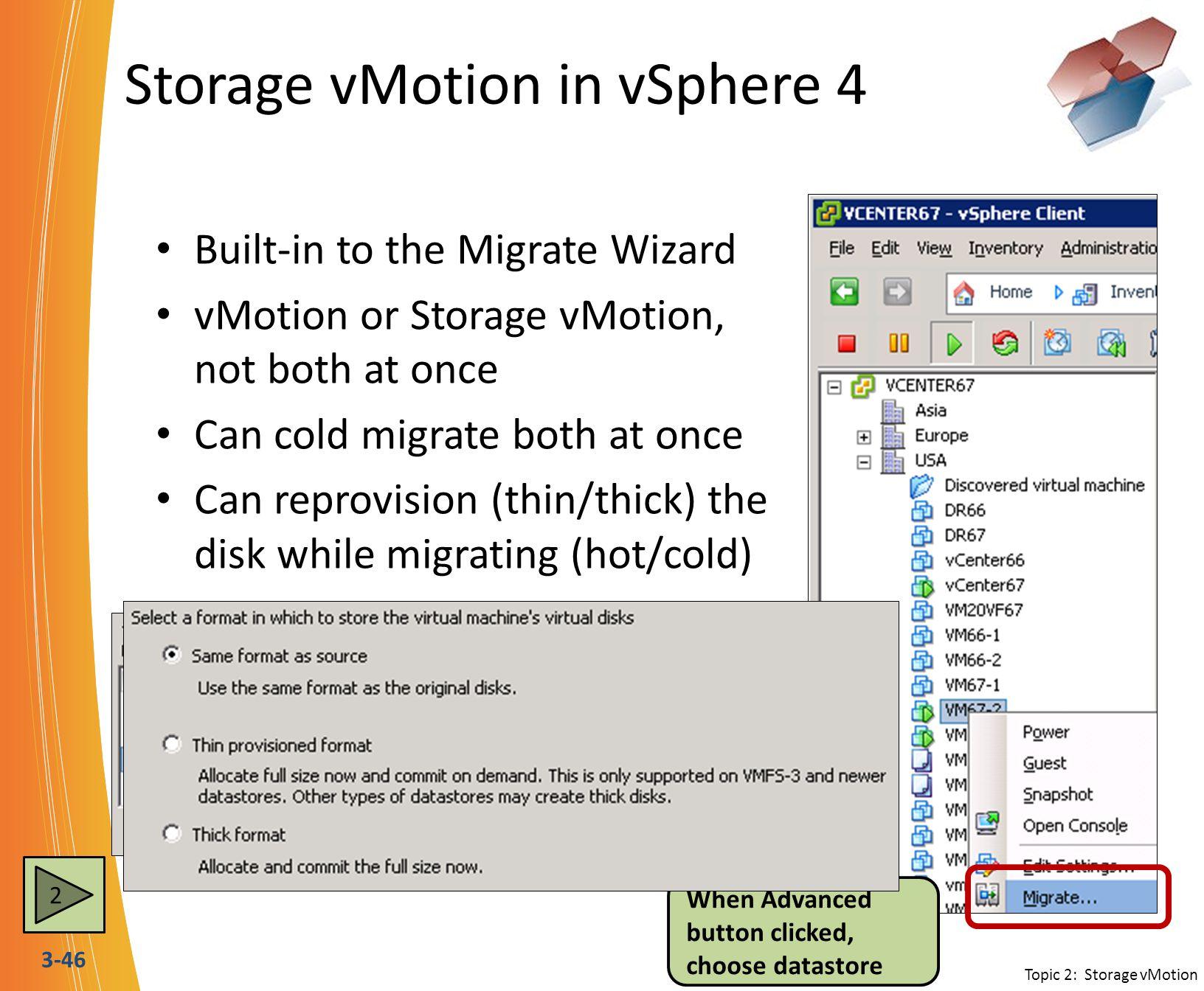 Storage vMotion in vSphere 4