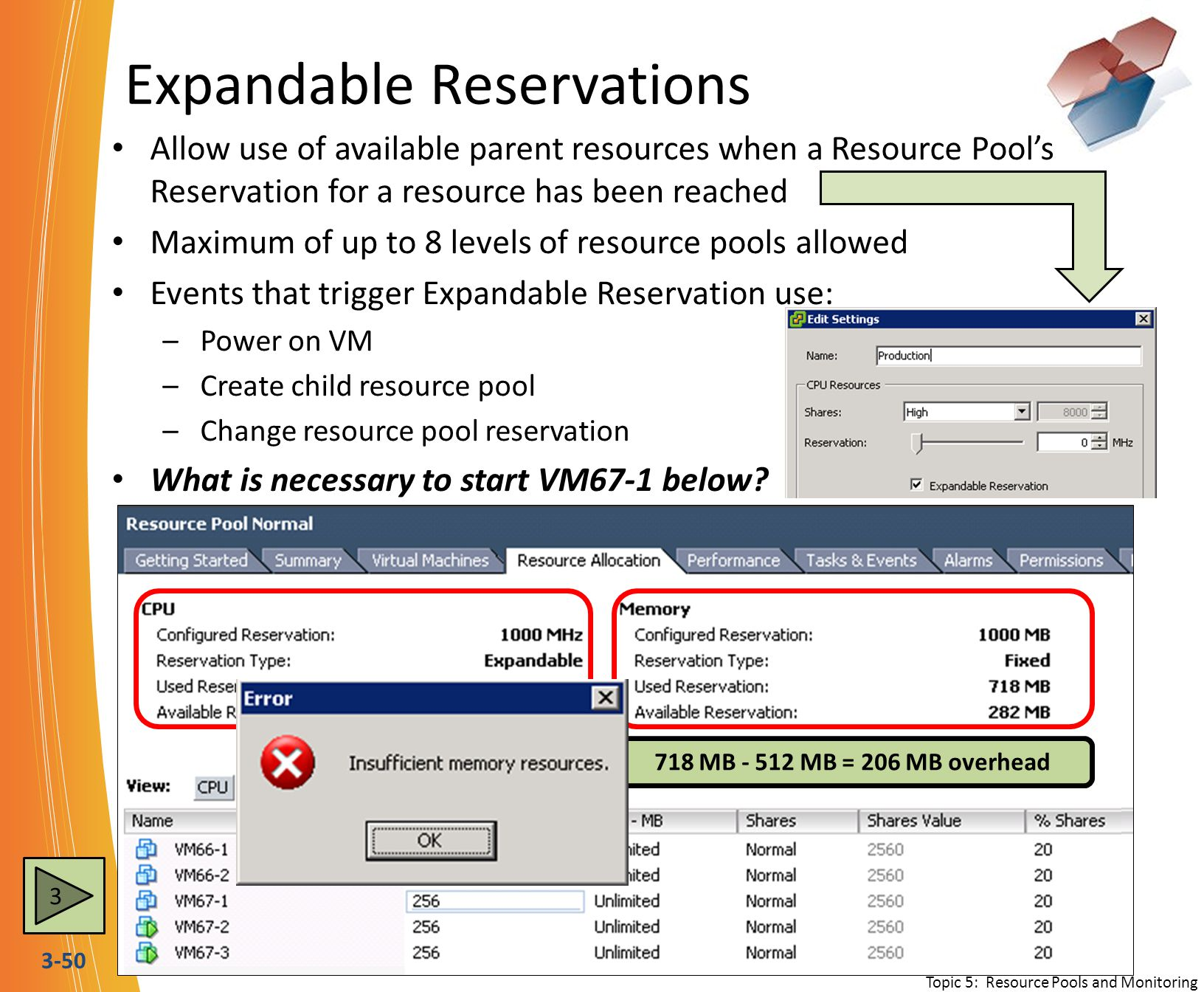 Expandable Reservations