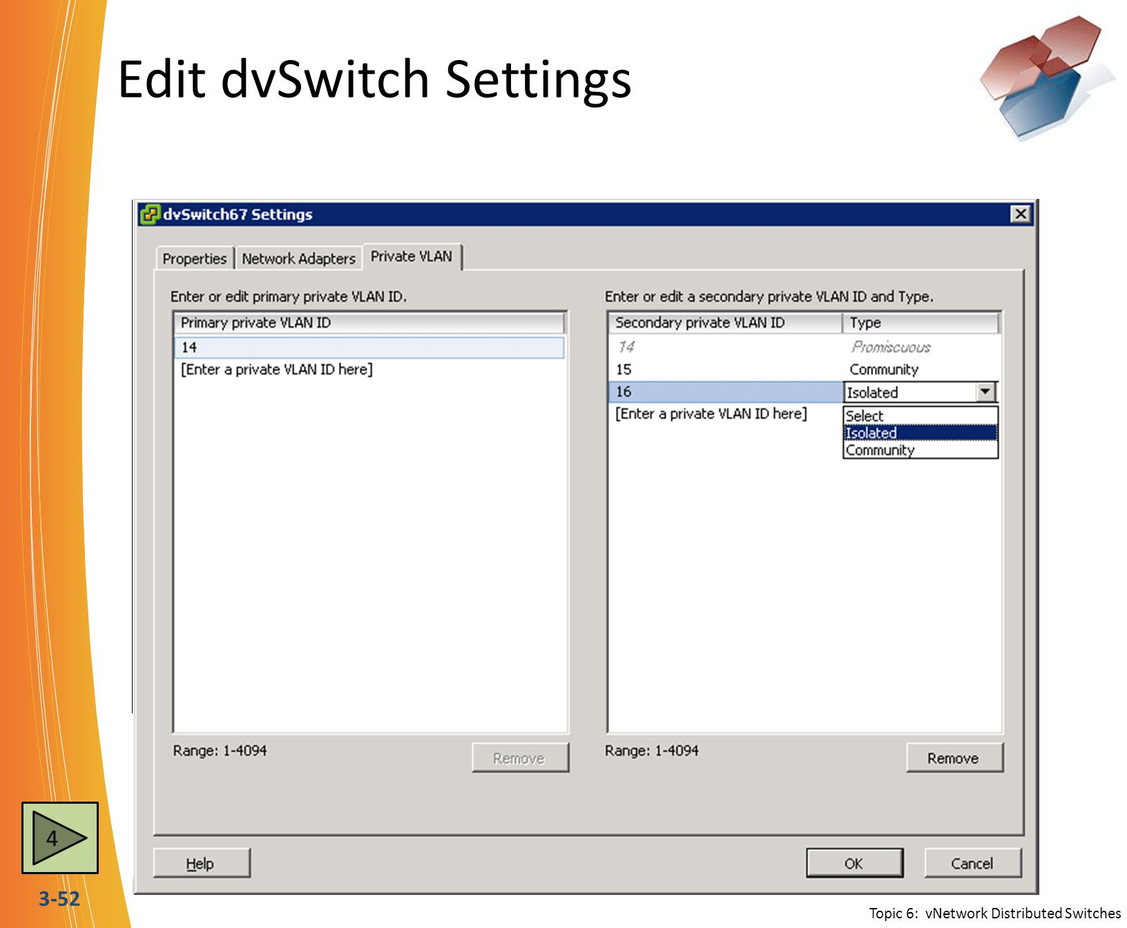 Edit dvSwitch Settings