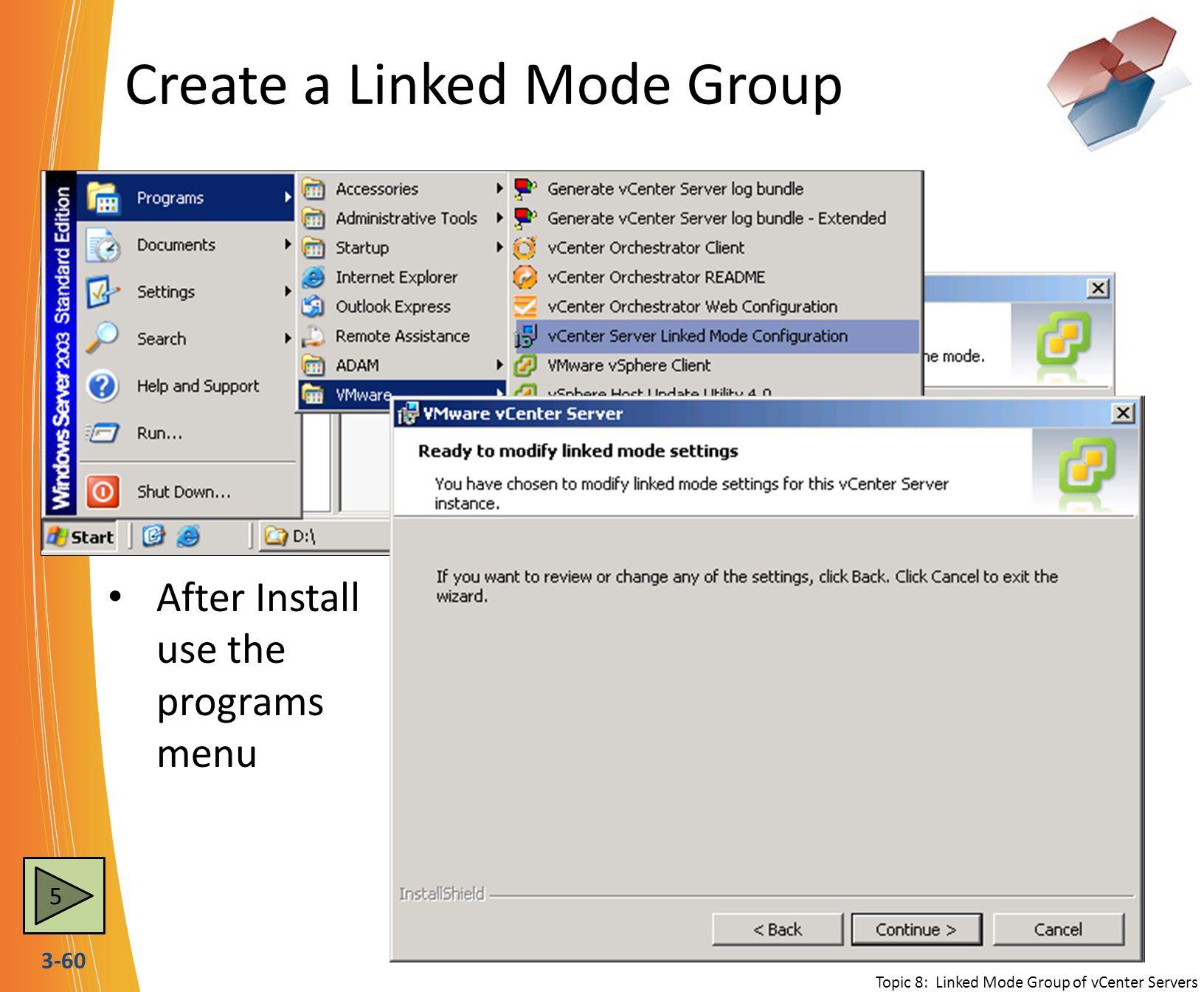 Create a Linked Mode Group