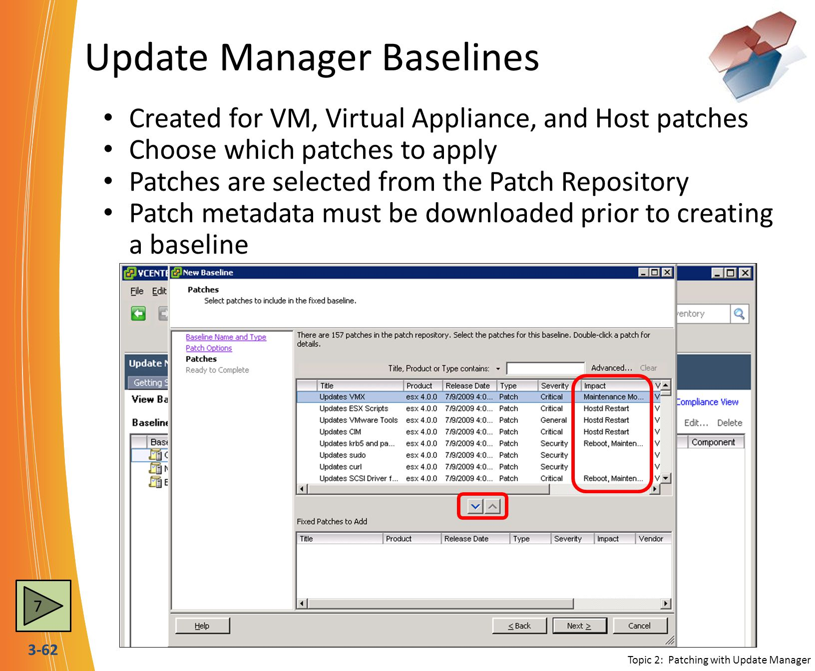Update Manager Baselines