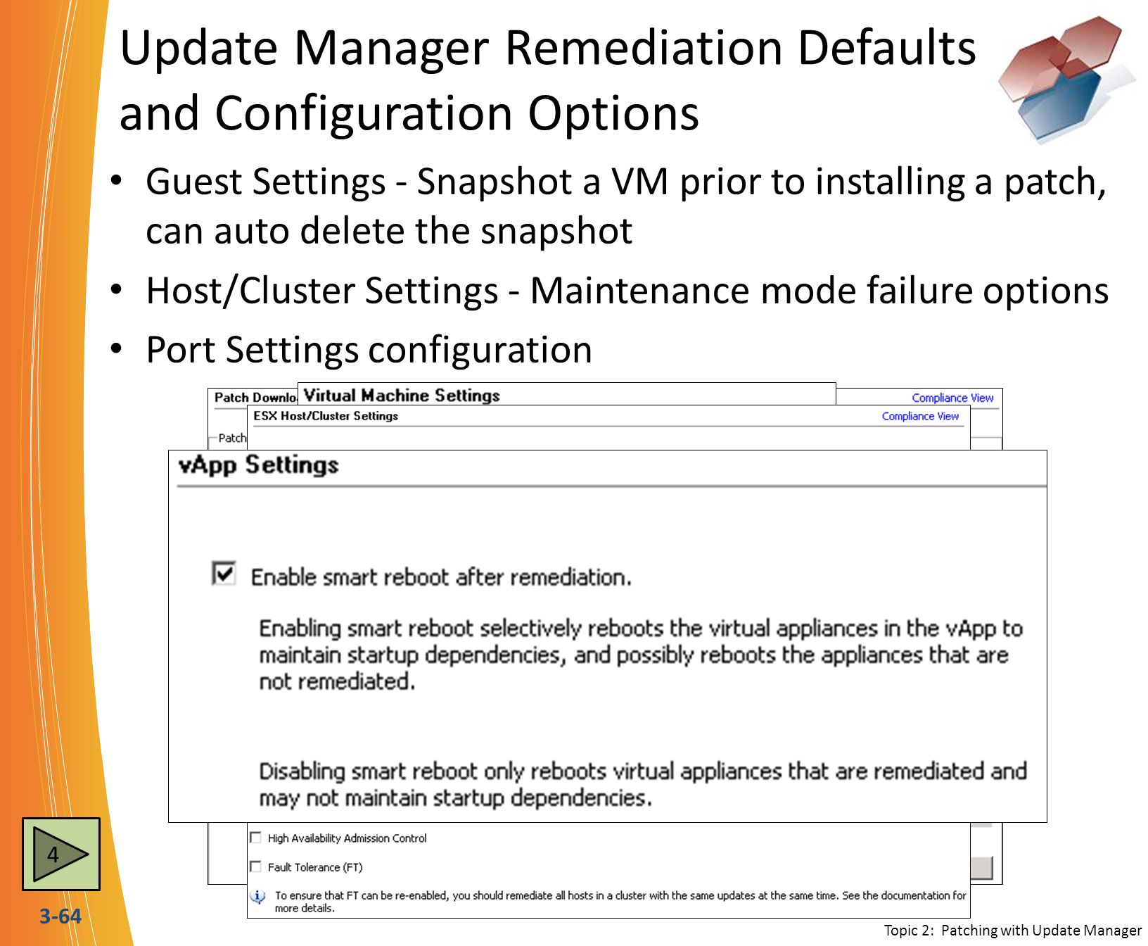 Update Manager Remediation Defaults and Configuration Options