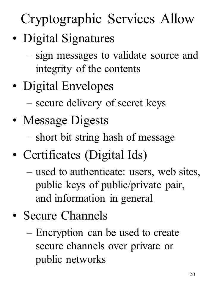 Cryptographic Services Allow