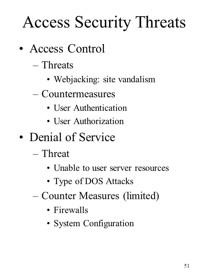 Access Security Threats