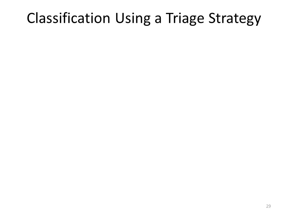 Classification Using a Triage Strategy