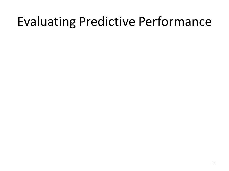 Evaluating Predictive Performance