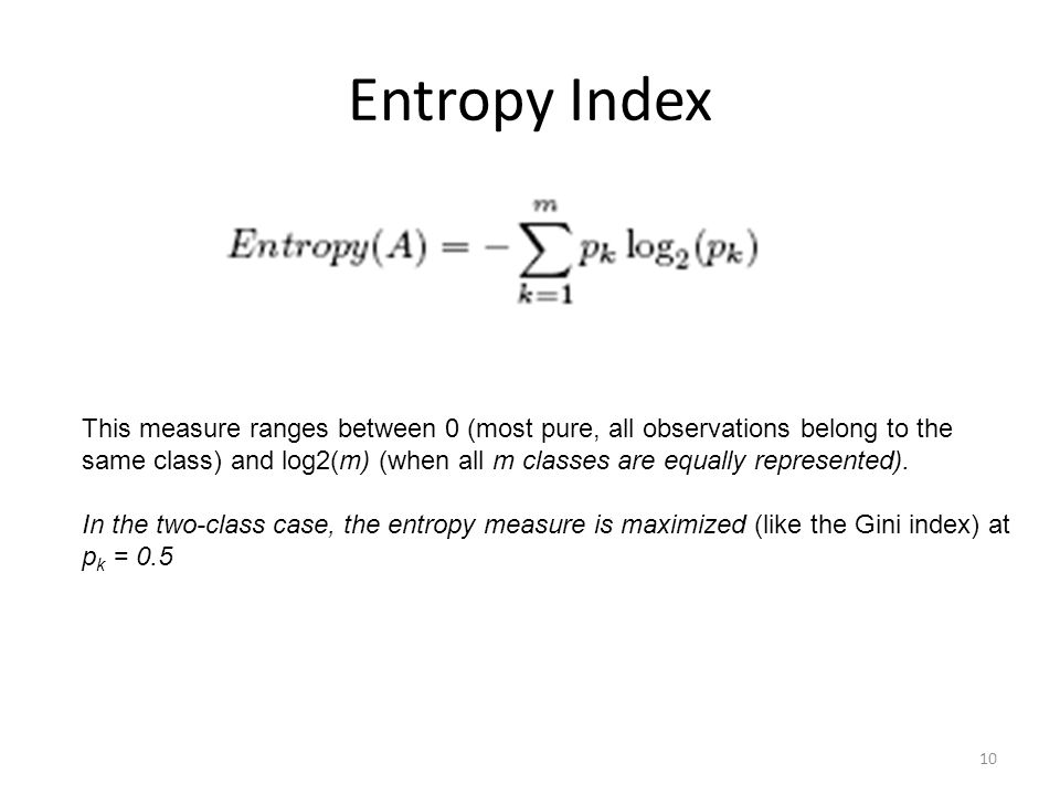 Entropy Index