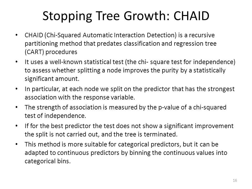 Stopping Tree Growth: CHAID