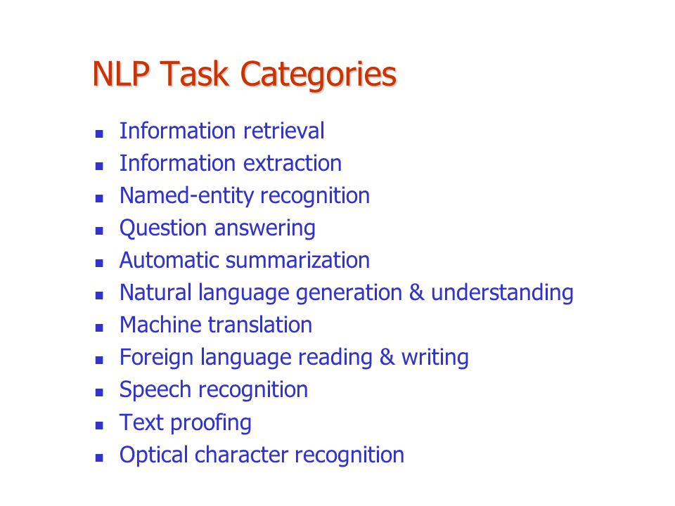 NLP Task Categories Information retrieval Information extraction