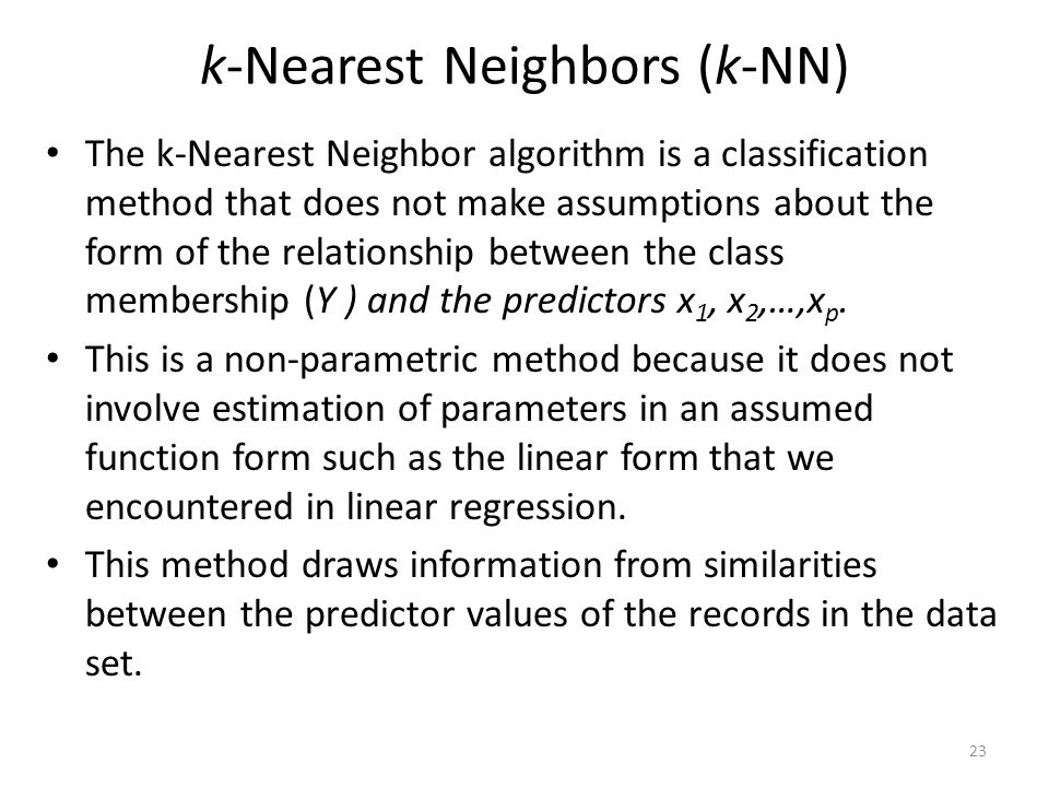 k-Nearest Neighbors (k-NN)