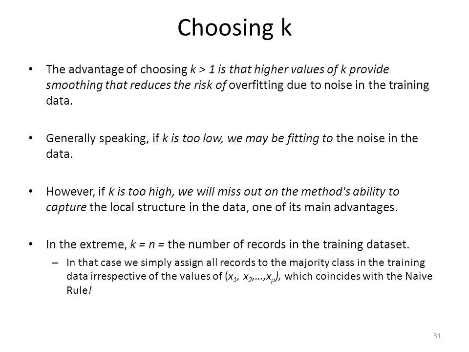 Choosing k