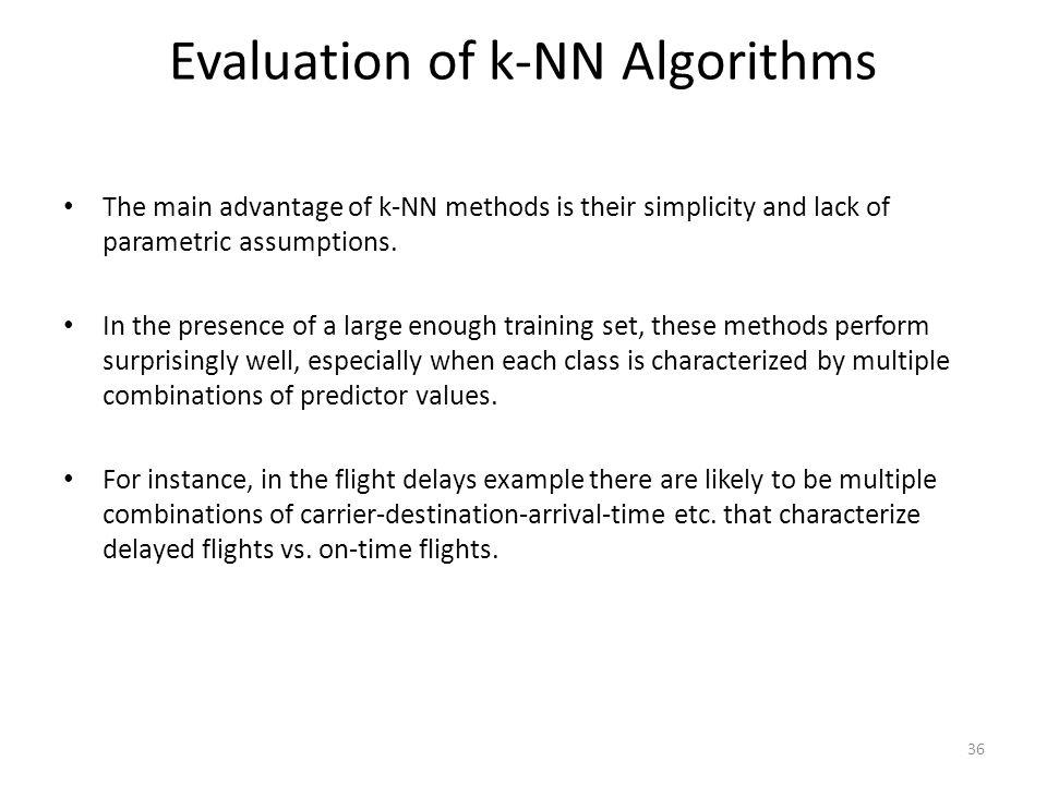 Evaluation of k-NN Algorithms