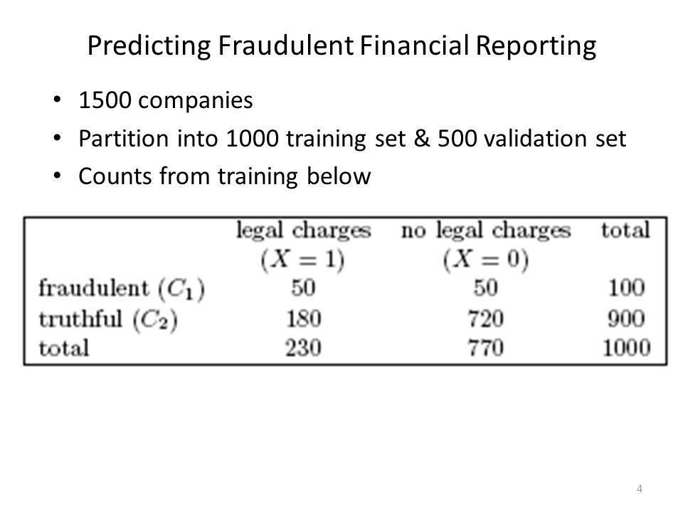 Predicting Fraudulent Financial Reporting