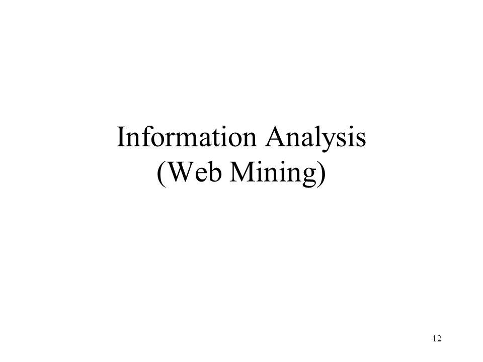 Information Analysis (Web Mining)