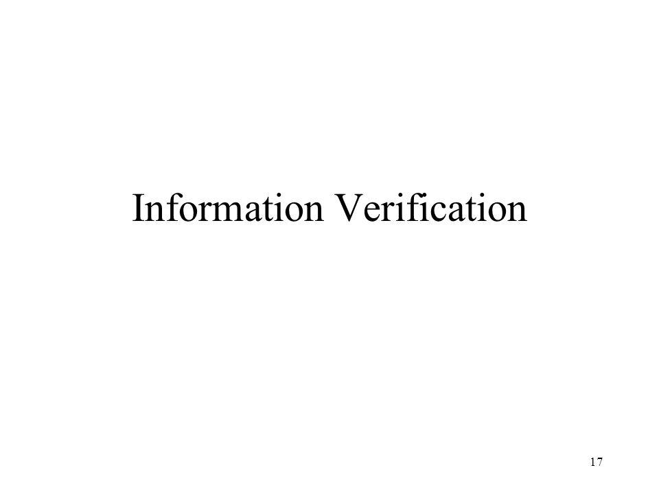 Information Verification