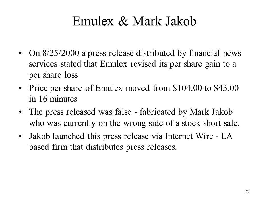 Emulex & Mark Jakob
