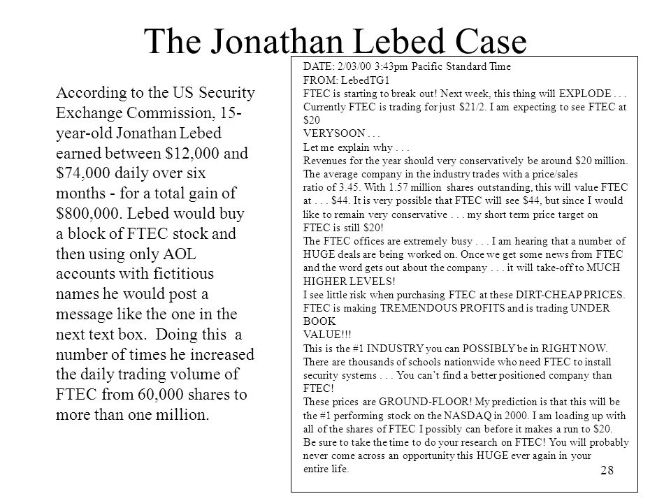 The Jonathan Lebed Case