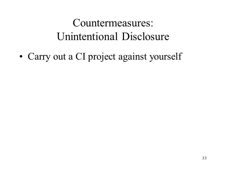 Countermeasures: Unintentional Disclosure