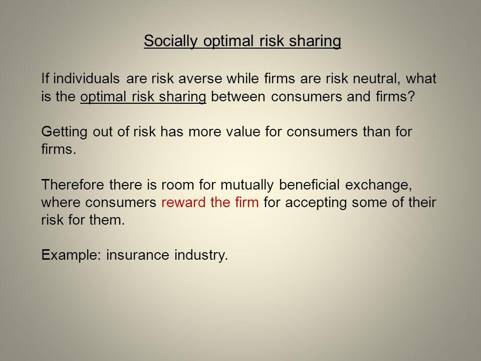 Socially optimal risk sharing