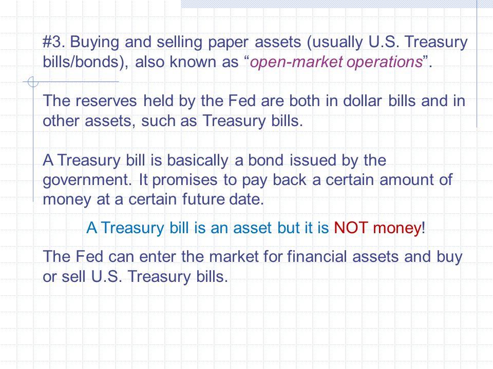 A Treasury bill is an asset but it is NOT money!
