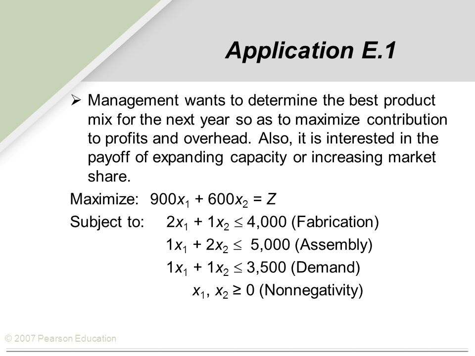 Application E.1