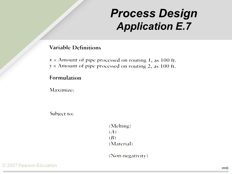 Process Design Application E.7
