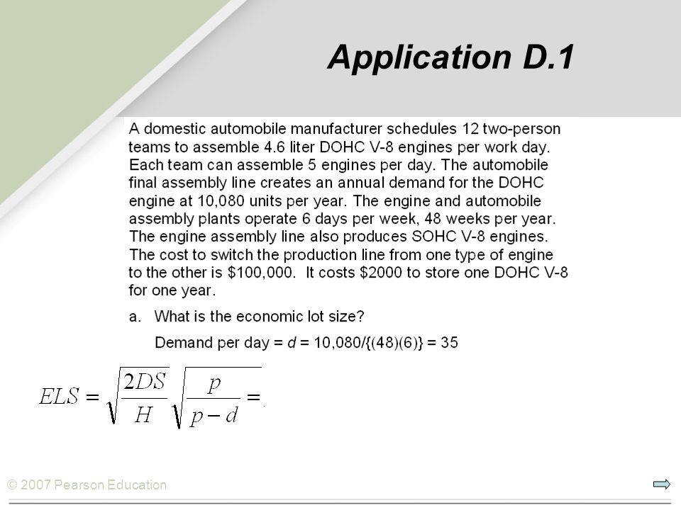 Application D.1 or 1555 engines