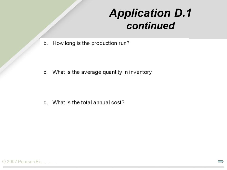 Application D.1 continued