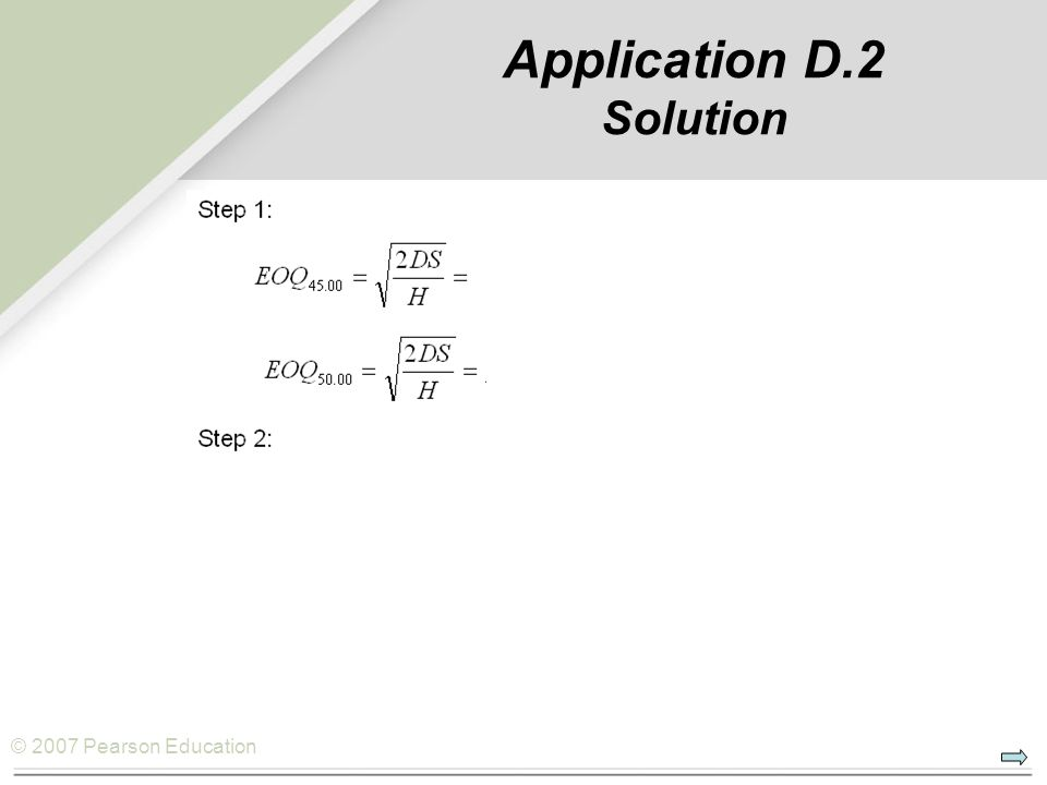 Application D.2 Solution