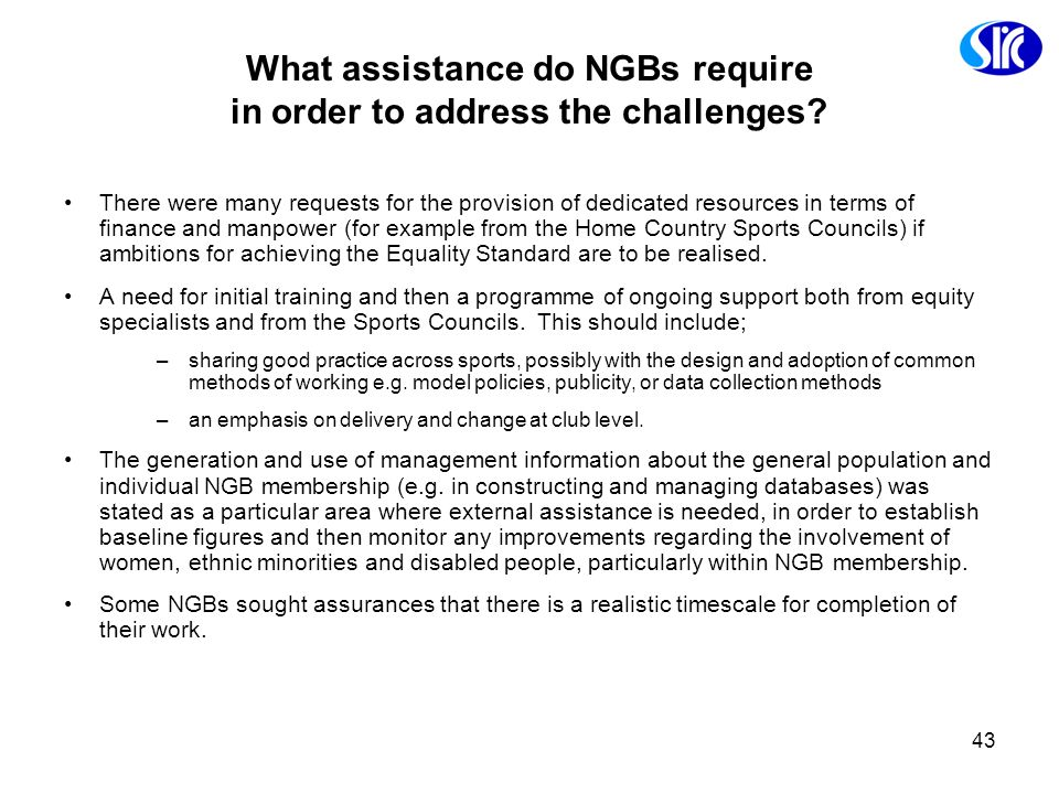 What assistance do NGBs require in order to address the challenges