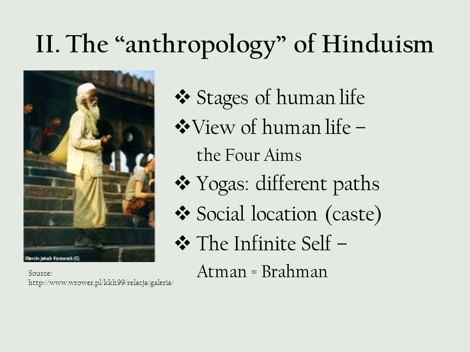 II. The anthropology of Hinduism
