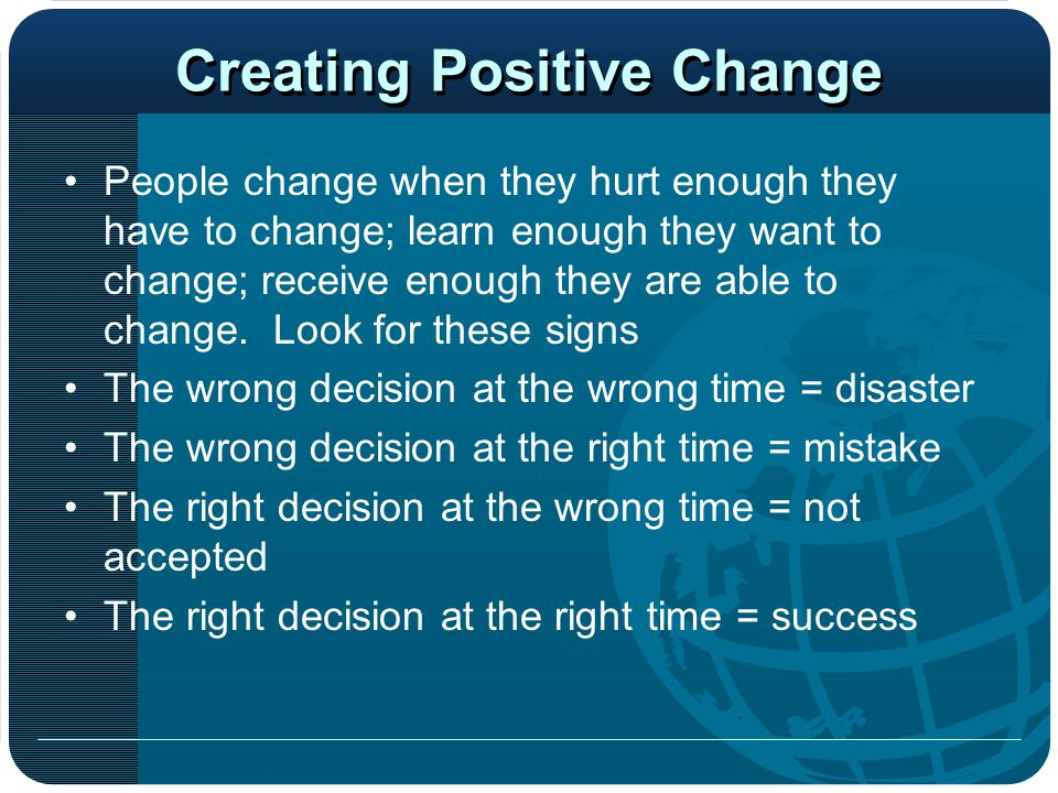Creating Positive Change