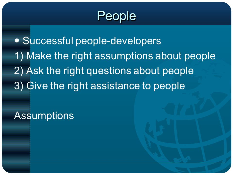 People  Successful people-developers
