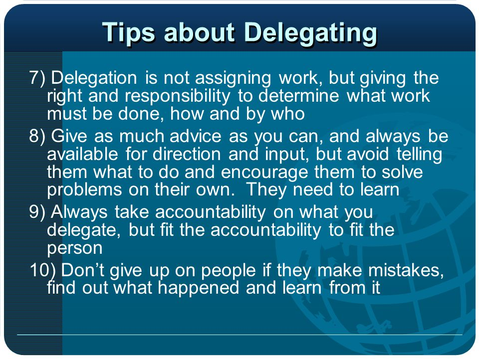 Tips about Delegating