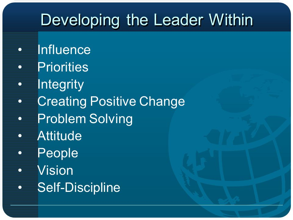 Developing the Leader Within