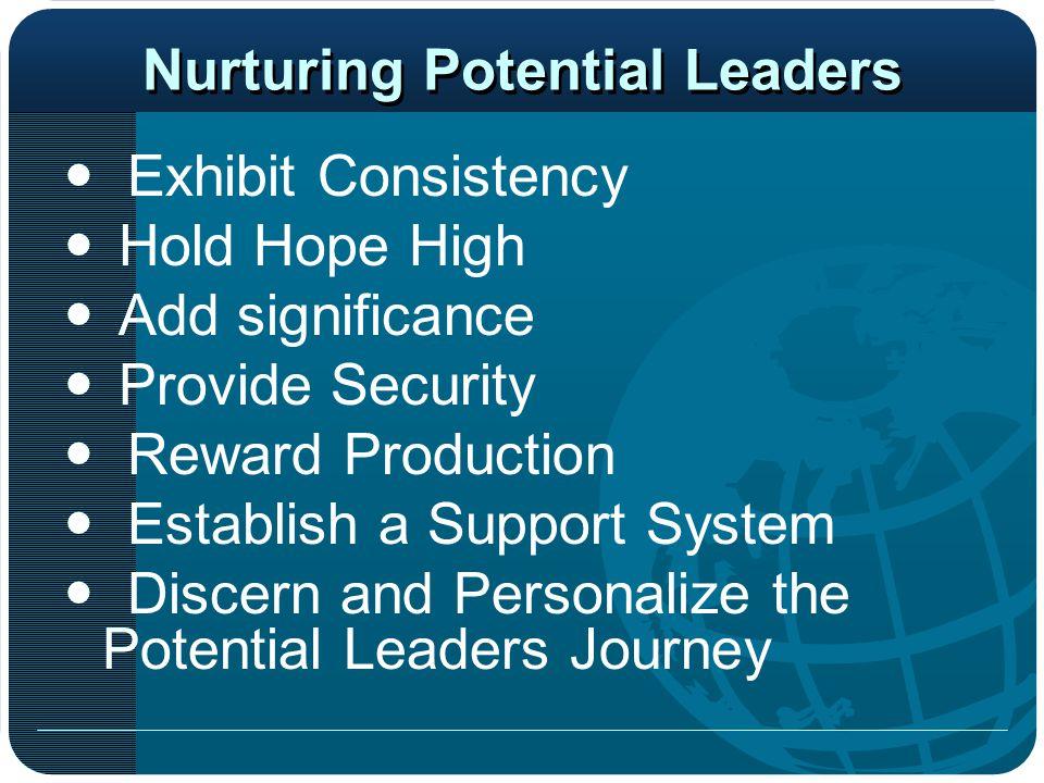 Nurturing Potential Leaders