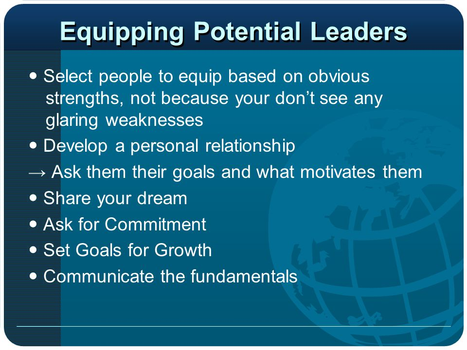 Equipping Potential Leaders