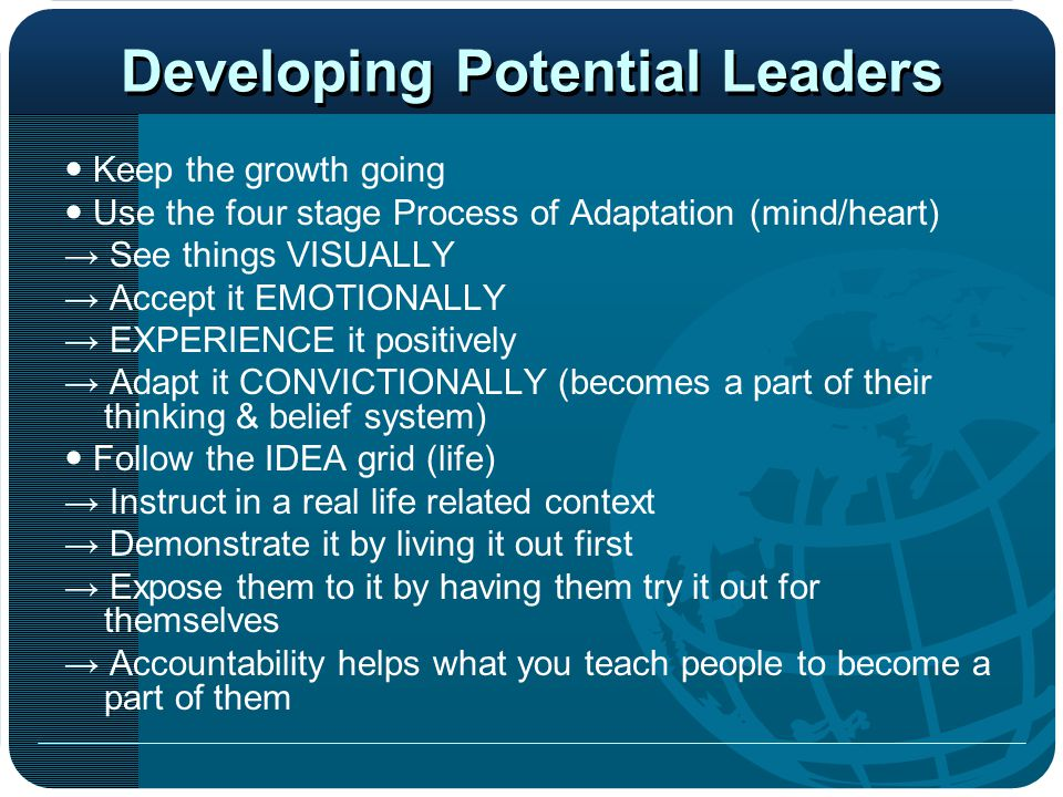 Developing Potential Leaders