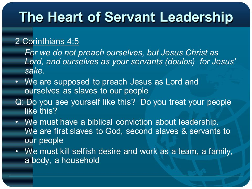 The Heart of Servant Leadership