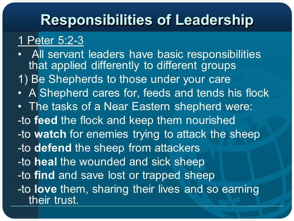 Responsibilities of Leadership